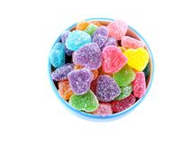 Colorful of jelly beans isolated on white background Royalty Free Stock Photo