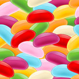 Colorful jelly beans seamless pattern. Stock Photo
