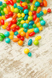 Colorful jelly beans to wallpaper Stock Images