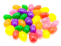 Colorful Jelly Beans (White Background) Royalty Free Stock Photos
