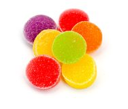 Colorful jelly candies. Royalty Free Stock Image
