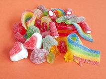 Colorful jelly candies Royalty Free Stock Image