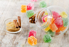 Colorful jelly candies Stock Image