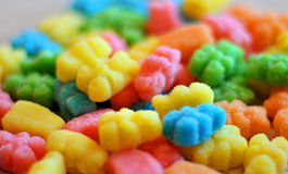 Colorful jelly candies on a background Royalty Free Stock Photo