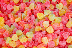 Colorful jelly candies closeup macro texture Stock Photography