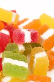 Colorful jelly candies. And empty space for your text Stock Photo