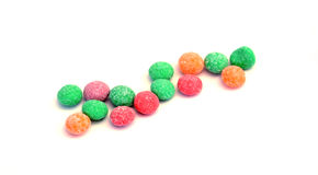 Colorful jelly candies with fruit flavour Royalty Free Stock Images