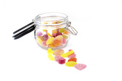 Colorful jelly candies Stock Photos