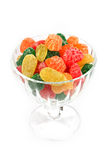 Colorful jelly candies isolated Royalty Free Stock Image