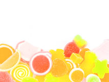 Colorful jelly candies isolated Stock Images