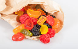 Colorful jelly candies in pack Stock Image