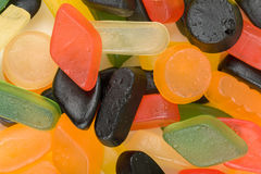 Colorful jelly candies set Stock Image
