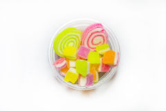 Colorful jelly candies on white Stock Images