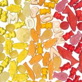 Colorful jelly candy Stock Photos