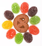 Colorful Jelly Candy as Background Royalty Free Stock Image