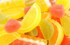 Colorful jelly candy background Stock Image