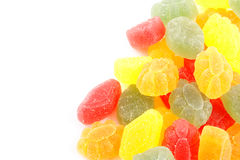 Colorful jelly candy background Stock Photos