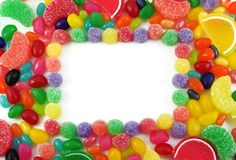 Colorful Jelly Candy Framed Background Royalty Free Stock Image