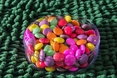 Colorful gummy jelly candy rainbow Royalty Free Stock Photo