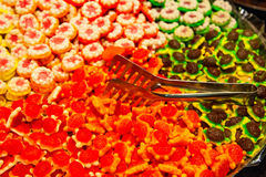 Colorful jelly in candy store royalty free stock image