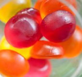 Colorful jelly fruit candies Royalty Free Stock Photography