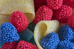 Colorful jelly fruit Royalty Free Stock Images