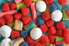 Colorful jelly fruit Stock Images