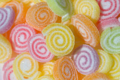 Colorful jelly. Fruit sweet background Royalty Free Stock Photos