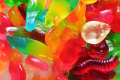 Colorful jelly gum Royalty Free Stock Photos