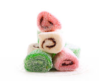 Colorful jelly - like sweet rolls Royalty Free Stock Photo