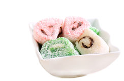 Colorful jelly - like sweet rolls Royalty Free Stock Image