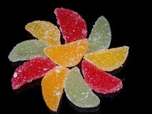 Colorful jelly slices royalty free stock photography