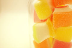 Colorful jelly in soft and blur style Royalty Free Stock Images