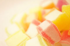 Colorful jelly in soft and blur style Royalty Free Stock Photos