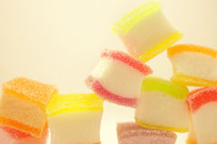 Colorful jelly in soft and blur style Stock Image