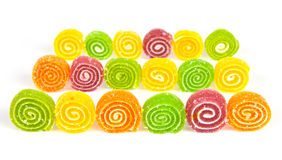 Colorful jelly in sugar Stock Images