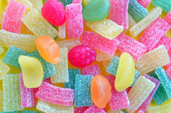 Colorful of jelly and sugar Royalty Free Stock Image