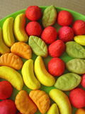 Colorful jelly sweets stock photography