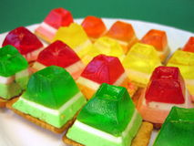 Colorful jelly sweets Royalty Free Stock Images