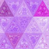 Colorful Jewel Elegance lilas triangle pattern. Pastel colors Royalty Free Stock Photos