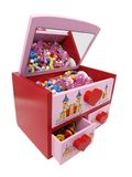 Colorful jewelry box for kids Stock Photography