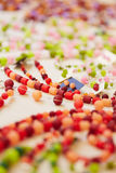 Colorful jewelry on display for Stock Photography