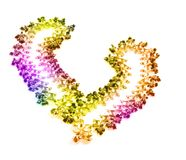 Colorful Jewelry Patterned in Open Heart Shape Stock Images