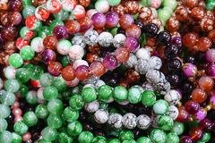 Colorful of Jewelry Stone Bracelet Royalty Free Stock Photos