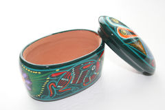 Colorful jewlery holder. Handmade ceramic stock image