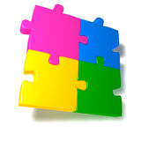 Colorful Jigsaw Royalty Free Stock Images