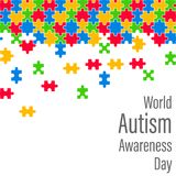 Colorful Jigsaw Drop World Autism Awareness Day Stock Image