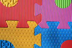 Colorful jigsaw foam texture Royalty Free Stock Image