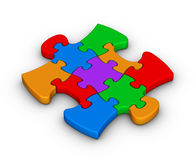 Colorful jigsaw piece Royalty Free Stock Photos