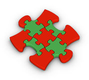 Colorful jigsaw piece Royalty Free Stock Images